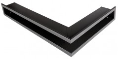 Решетка Открытая графит правая угловая 80х40х6 см