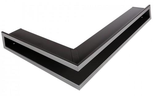 Решетка Открытая графит левая угловая 80х40х6 см