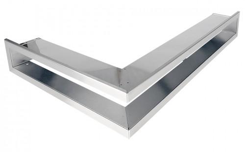 Решетка Открытая нержавейка левая угловая 60х40х6 см